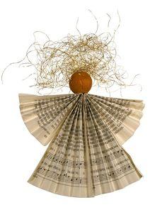 'Foldet papir engel'