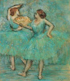 Edgar Degas (1834-1917, France) - Two Dancers, ca. 1905. Pastel ♥ www.thewonderfulworldofdance.com
