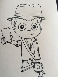 Doodle art Indiana Jones