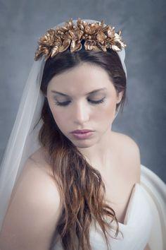 Floral bridal crown. Wedding floral crown. by LenaRomHeadpieces