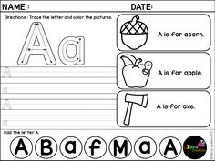 Free, Freebies, Free Alphabet, Alphabet Product, Alphabet Activities, Alphabet Fun Activities, Alphabet, Alphabet Recognize & Color, Pre-K, Kindergarten, 1st Grade