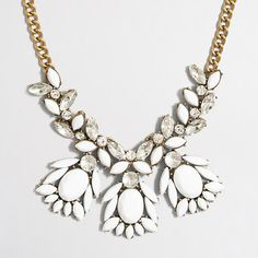 J.Crew Factory abstract stone and crystal necklace