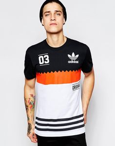 adidas Originals Block T-Shirt AB9579 at asos.com