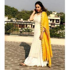 Haldi Special Salwar Palazzo With Heavy Dupatta Stylish Suit, Stylish Dresses, Fashion Dresses, Pakistani Dresses, Indian Dresses, Indian Outfits, Indian Attire, Indian Wear, Lehenga
