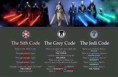 I kinda agree with the grey code. I think jedis should be able to feel and love and hate.