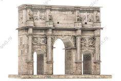 Arch of Constantine card model kit