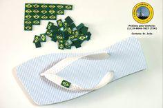 Chinelo com bandeira do Brasil - www.facebook.com/chinelosjaragua