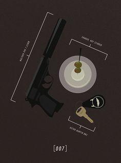 James Bond 007 #Poster #Illustration