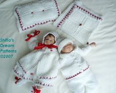 Crochet Pattern - CP46 -  9 Piece Girl Boy Baby Set - 0-3 mths - USA Terminology