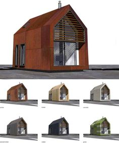 Prefab shed home by Dwelle