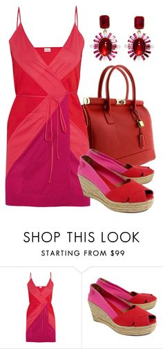 """Red Bag"" by deborah-calton ❤ liked on Polyvore featuring Eres, Tory Burch and Oscar de la Renta"