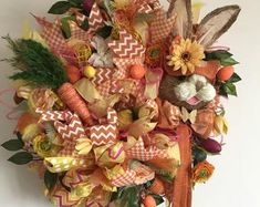 Unique Wreaths, Ornaments, Signs and Centerpieces by TapsikDesign Halloween Door Wreaths, Fall Wreaths, Christmas Wreaths, Front Door Decor, Wreaths For Front Door, Seasonal Decor, Holiday Decor, Spooky Decor, Window Ideas