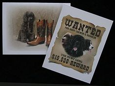 Puppy & Wanted Blank Note Card Pack