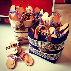 Caracas Sisal Basket Tote by Mar Y Sol // Elina Lebessi hand-crafted Greek leather sandals