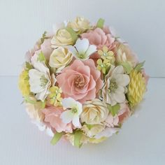 Paper Bouquet  Paper Flowers  Wedding от morepaperthanshoes