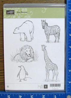Stampin Up Stamp Set Zoo Review Wild Animals Sketch Lion Zebra Giraffe New Cm