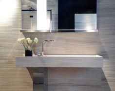 Onsen washbasin in Silk Georgette stone by Savatori