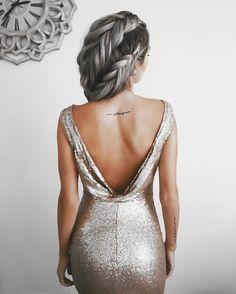 Dress: tumblr gold sequins gold sequins sequin open back open back es backless backless party tattoo