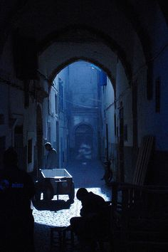 Looking down a street in Essouira by bolbolha