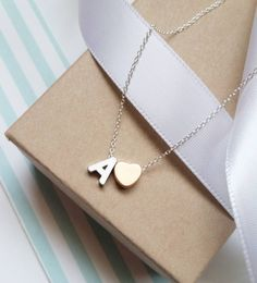 Silver & Rose Gold  #sweet16 #cassieheartnecklace #skj #jewelry