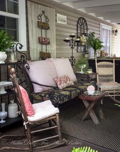 Far Above Rubies: Vintage farmhouse style porch