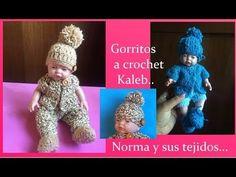 Gorrito a crochet para Kaleb ( dos gorritos en este tutorial) - YouTube