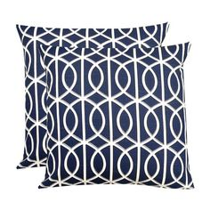 I pinned this Trellis Pillow in Royal Blue (Set of 2) from the Elisabeth Michael event at Joss and Main!