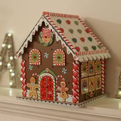 Christmas Gingerbread House Advent Calendar by Little Ella James, the perfect gift for Explore more unique gifts in our curated marketplace. Cardboard Gingerbread House, Gingerbread Crafts, Christmas Gingerbread House, Gingerbread Man, Christmas Home, Christmas Crafts, Christmas Decorations, Xmas, Christmas Tables