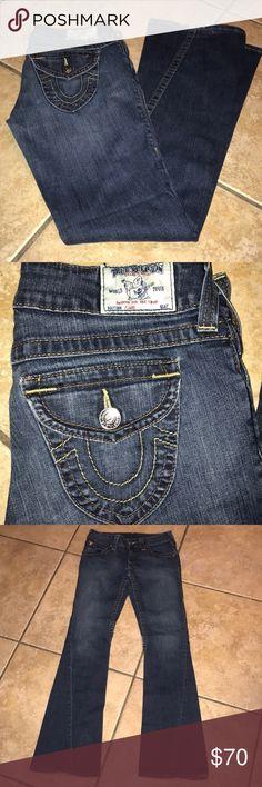 True Religion Flare Jeans Size 28 True Religion Flare Jeans Size 28  inseam approx 32 inches True Religion Jeans Flare & Wide Leg