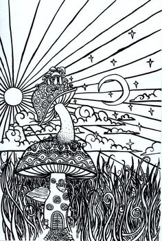 psychedelic sun coloring pages coloring pages colouring adult detailed - Psychedelic Coloring Pages For Adults