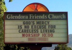 Friends Church Sign of the Week   Ironwolf
