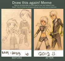 Draw This Again Meme Danny Phantom by koharurei