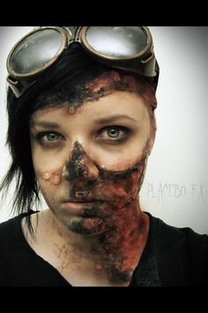 "Special effects makeup done by Stephanie Koza of Placebo FX Makeup. ""....the apocalypse."""