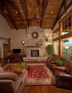 5 Serene Cool Tips: Modern Traditional Fireplace fireplace remodel high ceiling.Fireplace Garden How To Build fireplace hearth safety.Tv Over Gas Fireplace. Mountain House Plans, Rustic Home Design, Eclectic Design, Cabin Interiors, Story House, Log Homes, Barn Homes, Great Rooms, Living Room Designs