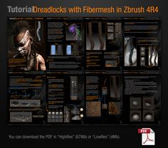 Pablander on ZBC   Creating dreadlocks with fibermesh.  you can get the PDF in HighRes (67Mb) or LowRes (4Mb).  HighRes from here: https://www.dropbox.com/s/a6hj8ucela...sh_HighRes.pdf  LowRes from here: https://www.dropbox.com/s/lnnz7o696m...esh_LowRes.pdf  Please let me know what you think, if you like it or not or if you think I should change something to clarify!  If you find it useful I would appreciate some likes on my facebook page!  cheers!