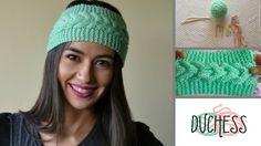 Knitted Headband Free Pattern, Crochet Beanie, Knitted Hats, Knit Crochet, Crochet Hats, Knitting Videos, Loom Knitting, Knitting Patterns, Crochet Patterns
