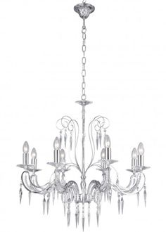 Antoinette 8 Light chandelier from PAGAZZI - Searchlight 2028-8CC