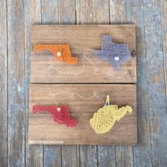 MADE TO ORDER Two Connecting States/Countries String Art Sign