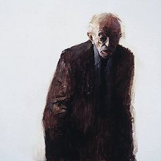 Dinie Boogaert, Silent Man IV, oil on canvas 1998, 100x100cm