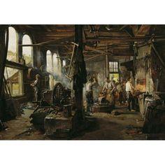 Hugo Charlemont. Interior of Hammer Mill.