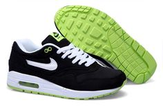Nike Air Max 1 Herren Schuhe Schwarz/Weiß/Grasgrün
