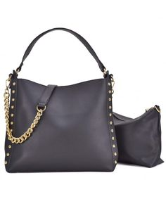 8006fb6afa4d Women Hobo Bag Purse and Wallet Set Studded Top-handle Crossbody Handbags -  7480-black - CA18H47KK50