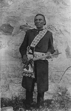 Chief Wa-bon-o-quot (aka -Wabanquot aka White Cloud) - Ojibwa – 1895; White Earth Reservation