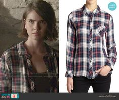 Malia's navy and red plaid shirt on Teen Wolf.  Outfit Details: http://wornontv.net/51318/ #TeenWolf