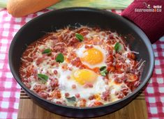 Ñoquis con huevos a la sartén