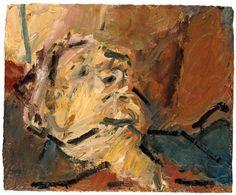 Reclining Head of Julia II, Frank Auerbach | Courtesy of Marlborough Fine Art