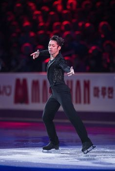 Daisuke Takahashi of Japan performs during the exhibition program at the 2013 World Figure Skating Championships on March 17, 2013 in London, Ontario. Gold, silver and bronze medalists of the championships as well as invited skaters performed in the post-competition exhibition.
