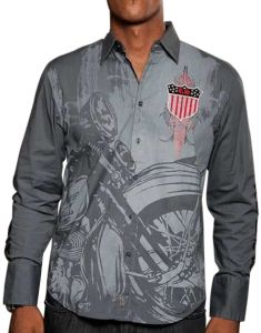 Rebel Spirit Winged Crest Shirt (Gray)