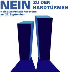 """Am 27. September 2020 wird unter der irreführenden Bezeichnung """"Privater Gestaltungsplan «Areal Hardturm – Stadion», Zürich-Escher Wyss, Kreis 5"""" eine kommunale Abstimmung stattfinden. Korrekt sollte es """"Privater Gestaltungsplan «Projekt Ensemble», Kreis 5"""" lauten, zumal es sich nicht nur um die Frage nach einem Stadion, sondern um das dazu gelieferte """"Verunstaltungspaket"""" mit gigantischen Wohntürmen handelt – inklusive überteuerten Wohneinheiten, Bodenversiegelung, Grünraumverlust ... Planer, September, Psychics, Projects"""