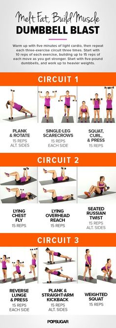 Printable Workout: Full-body, Dumbbell Circuit | POPSUGAR Fitness